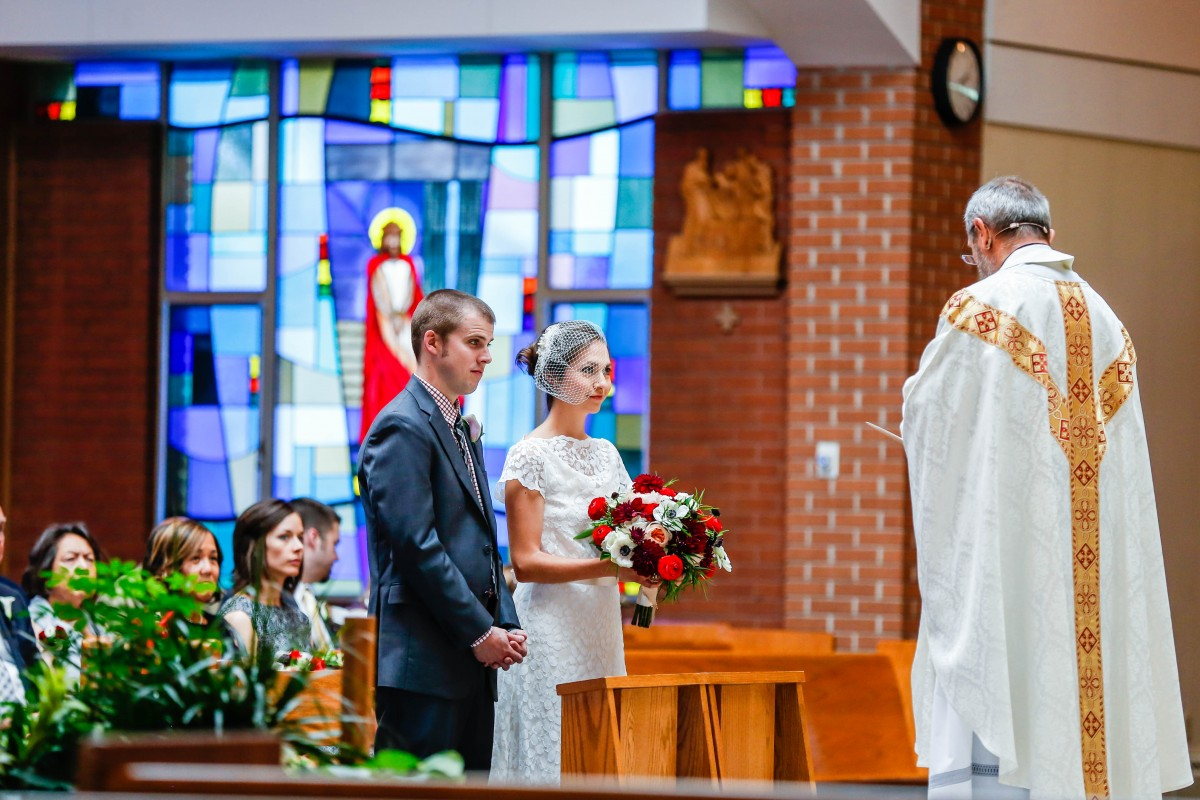 St. Mary's church Littleton wedding ceremony photographer Catholic Mass bride groom photography