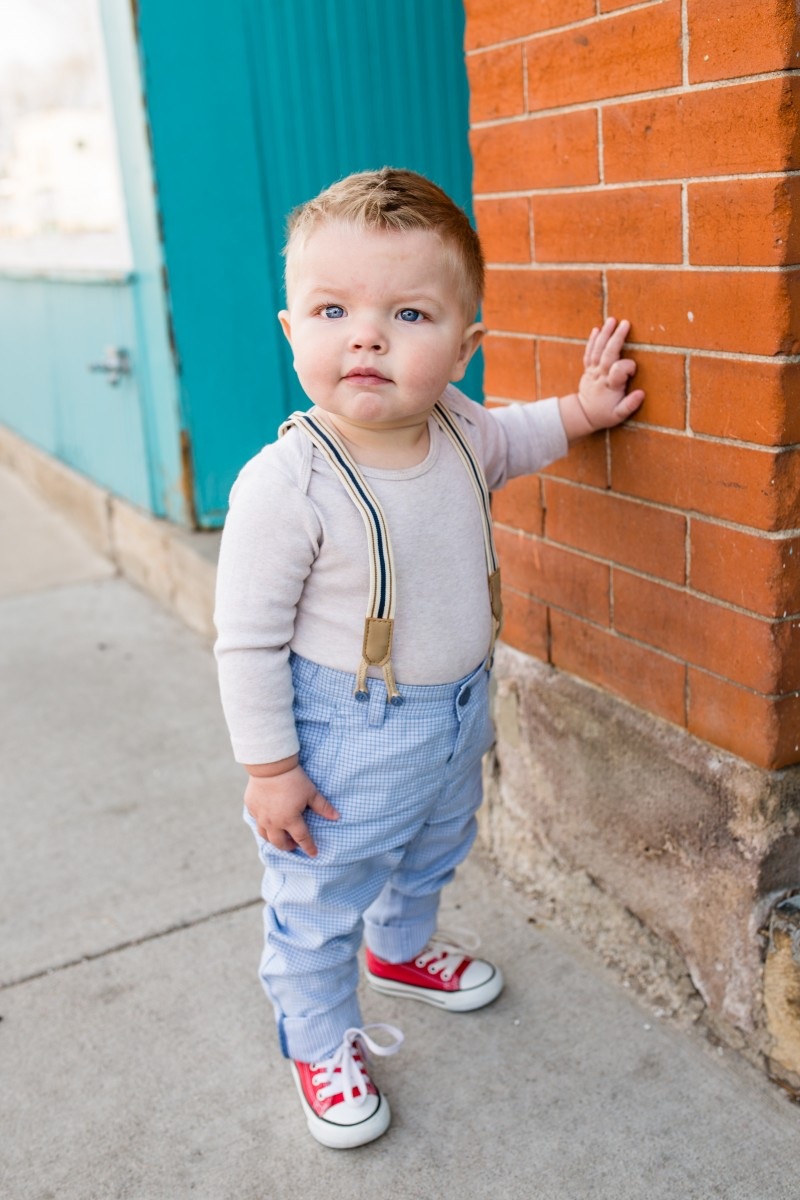 Littleton photographers baby boy one years old urban session