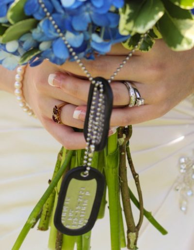 Littleton wedding photographer military details bouquet bride