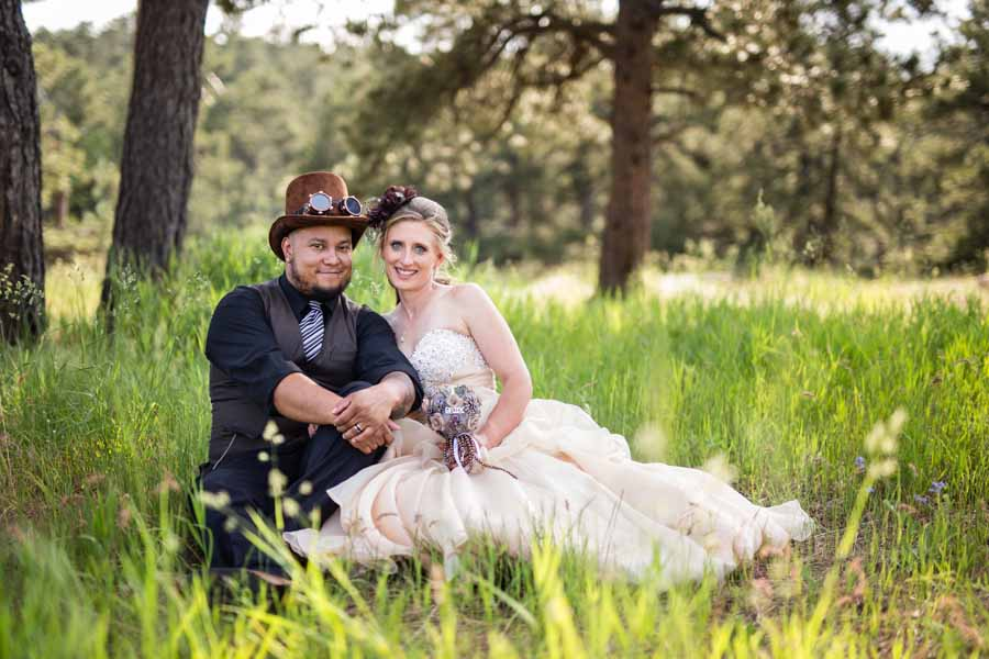 Littleton wedding photographer Lookout Mountain steampunk weddings photography