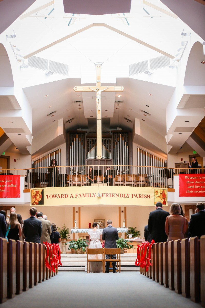 St. Mary's Catholic church wedding photographer Littleton Mass photography