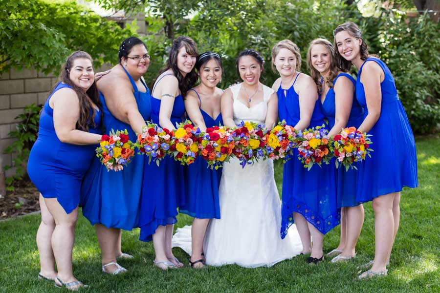 Molly Brown Summer House Home Littleton wedding photographer bridal party bridesmaids
