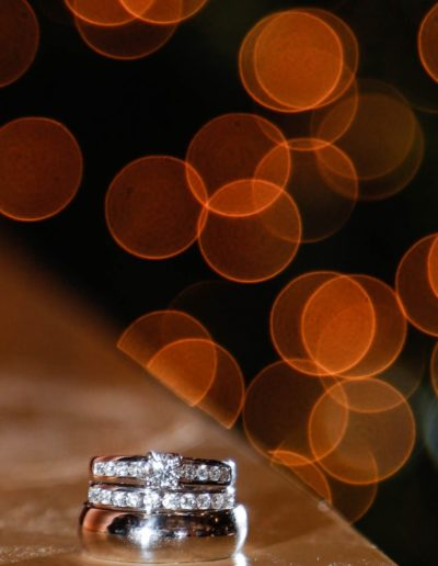 Littleton wedding photographer ring detail shot bokeh