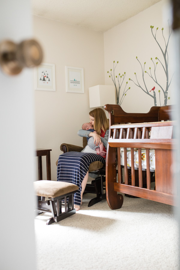 newborn lifestyle Littleton photographer in home photography
