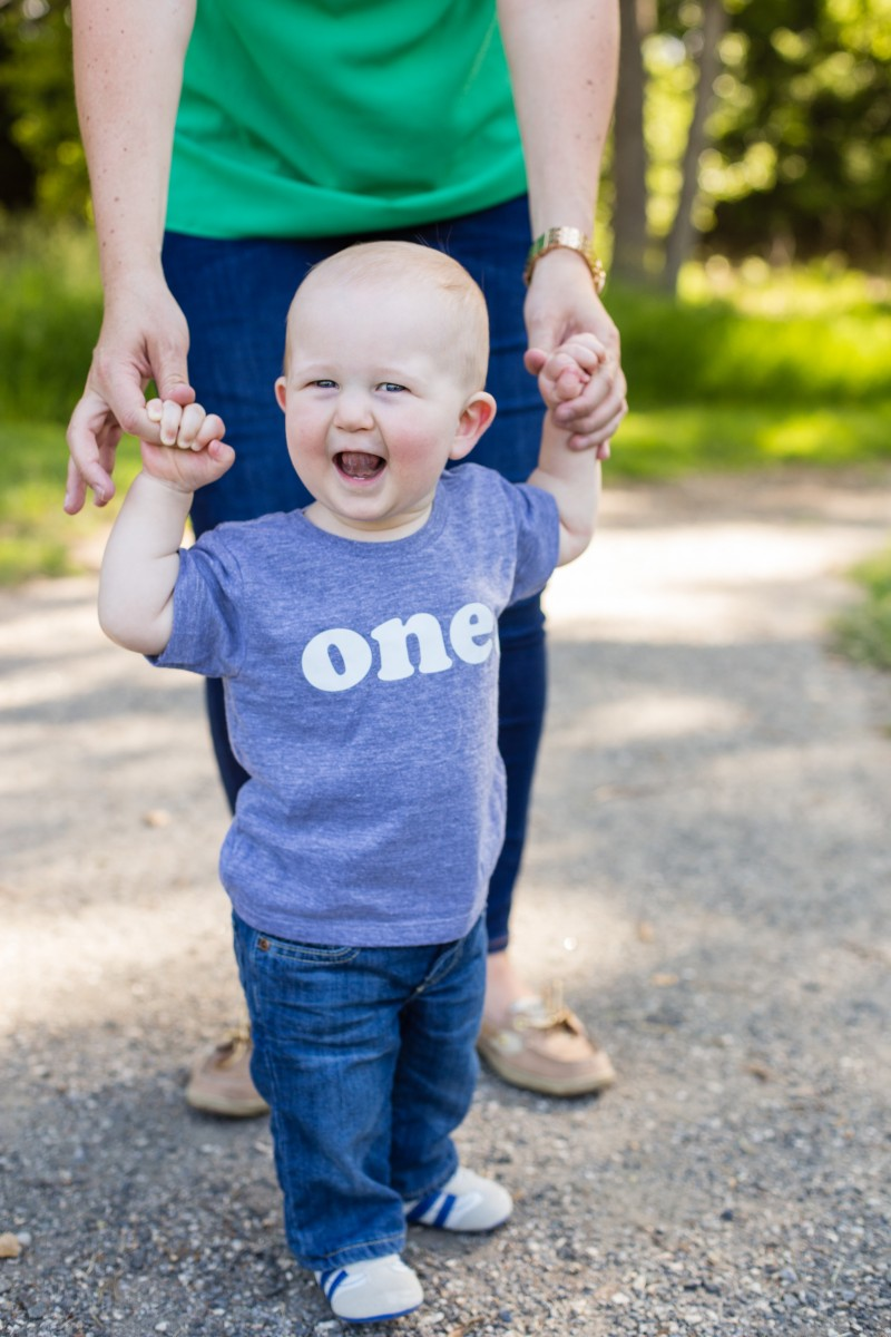 Littleton photographer milestone session baby boy one photography
