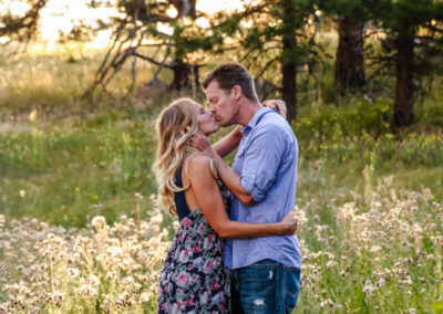 Littleton photographer couple in love Mt. Falcon Colorado