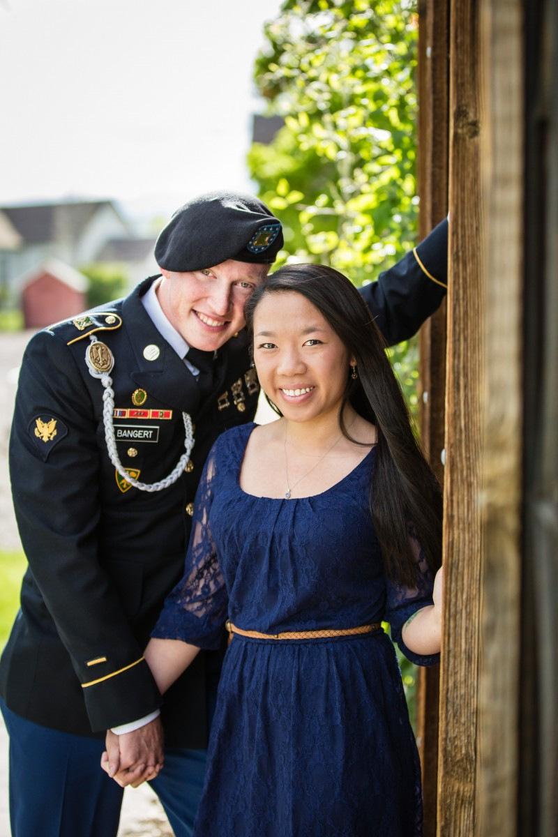 military engagement session Littleton photographer
