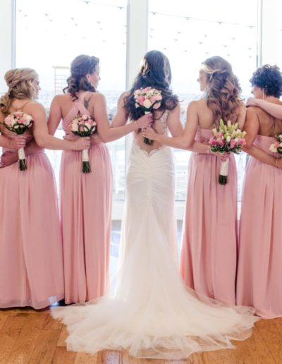 Littleton wedding photographer bride bridesmaids
