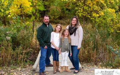 The {C} Family of 4 at Fly'N B park in Highlands Ranch Colorado by Littleton photographer