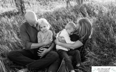 The {W} family of 4 in Ken Caryl Valley by Littleton photographer