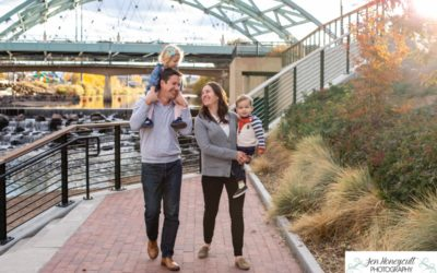The {L} Family of 4 with twins in Downtown Denver by Littleton photographer